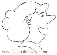 Cartoon Woman Outline