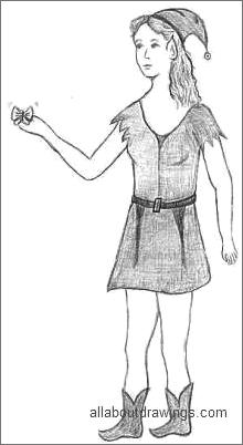 Female Elf Drawings