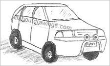 4WD Wagon Drawing