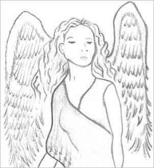 heavenly drawings of angel wings