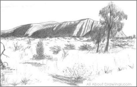 Ayers Rock Drawing
