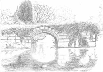 how to draw a bridge easy