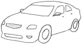 Pencil Car Drawings