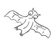 Cartoon Bat Drawing