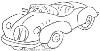 cartoon car drawings - Cartoon Outline Drawings