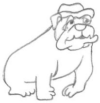Cartoon Drawings of Bulldogs