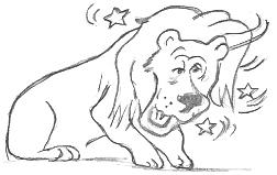 Cartoon Drawings Of Lions