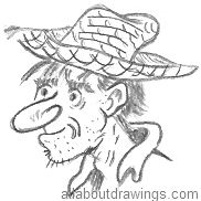 Cartoon Farmer Drawing