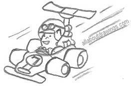 Cartoon Racing Car