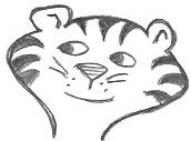 Cartoon Tiger Head Drawing