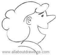 Cartoon Woman Outline