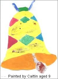 Painted Christmas Bell