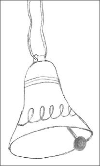 Christmas Bell Drawing
