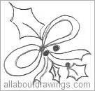 Draw Christmas Bows