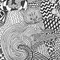 Doodle Cat Drawing