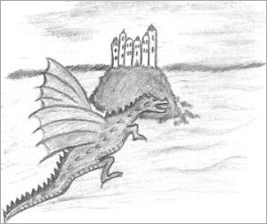 Dragon Castle Drawing