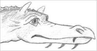 Easy Dragon Drawings In Pencil