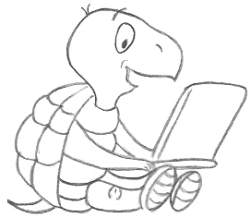 Drawing Of A Cartoon Turtle