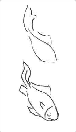 Easy Fish Drawing