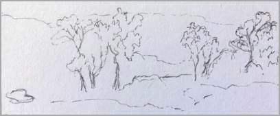 Easy outline landscape