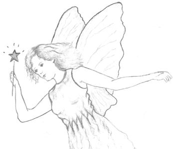 Fairy Drawing in pencil
