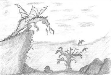 Fantasy Dragon Drawing