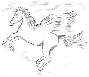 Fantasy Horse Drawing