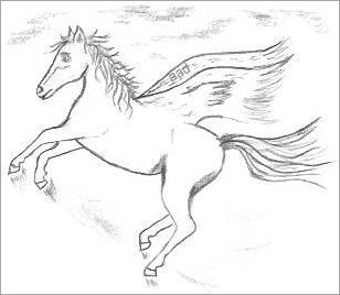Fantasy Horse Drawing