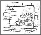 Fireplace Drawing