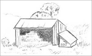 Hay Barn Drawing