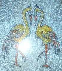Glass Painting of Birds