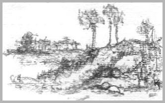Landscape Sketch Left Handed
