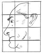 Grid Drawing Of A Man