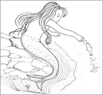 Young Mermaid Drawing