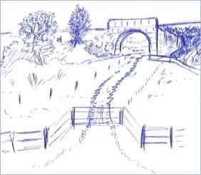 Pen Drawing Bridge