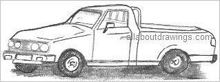 Pick Up Truck Drawing