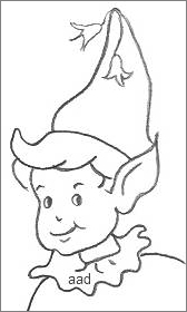 Outline of a pixie