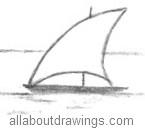 Sailing Boat Drawing