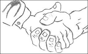 Shake Hands Drawing