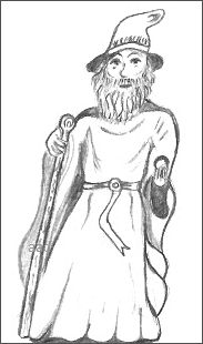 Drawing of a Wizard