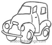 Cartoon Car Outlines