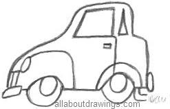 Cartoon Car Outlines Outline