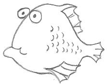 Cartoon Glum Fish