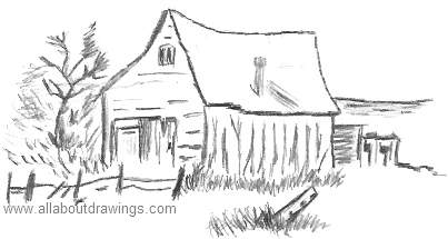Cartoon Shed Drawing