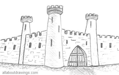 Castle Drawing Outline