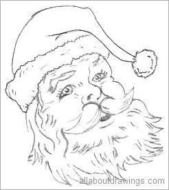 drawings of christmas - Simple Christmas Drawings