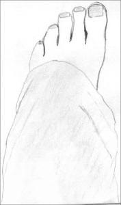 Drawing my foot