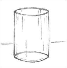 Simple glass drawing