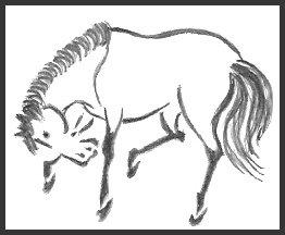 Japanese Horse Drawing