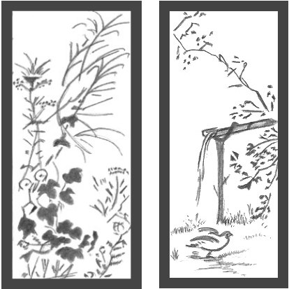 Japanese Landscape Drawings